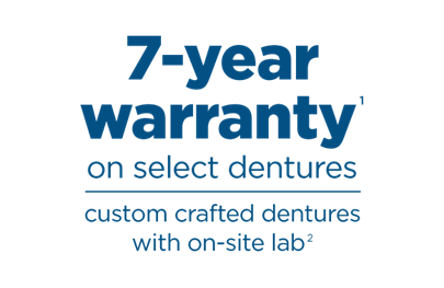 7 year warranty on select dentures