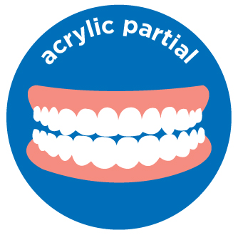 acryclic partial denture costs aspen dental