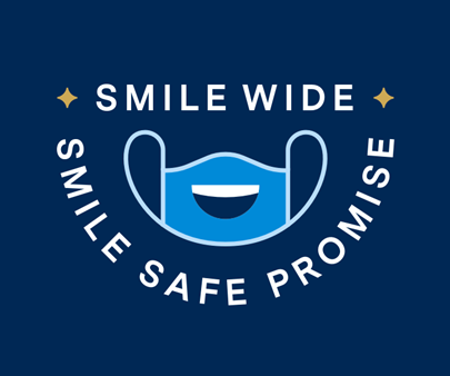 Smile Wide – Smile Safe Promise Logo